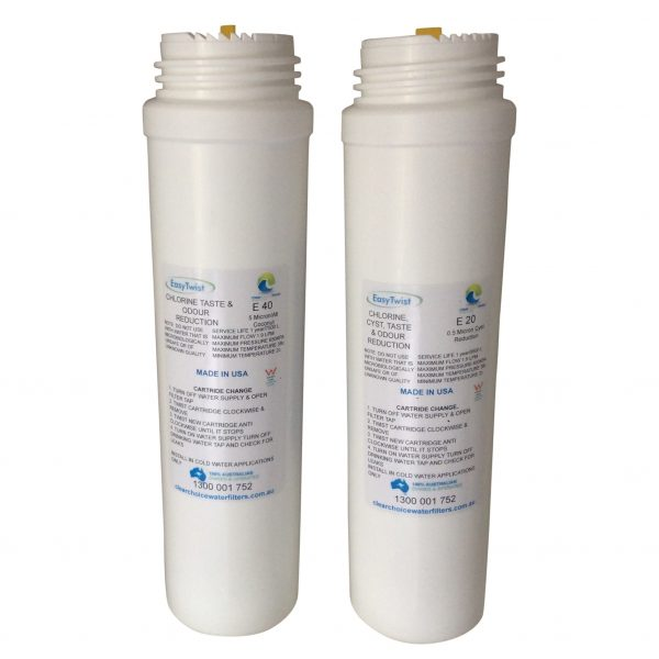 e20 and e40 water filter cartridges